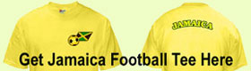 jamaica football tee